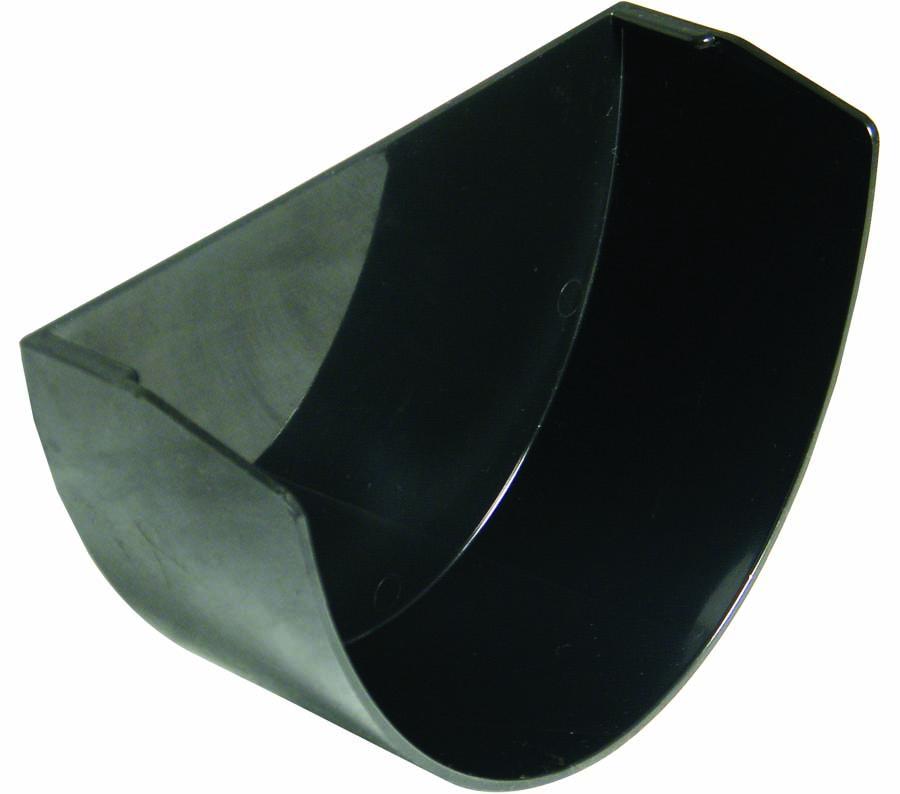 FLOPLAST XTRAFLO GUTTER SYSTEM - REX2 INTERNAL STOPEND - BLACK