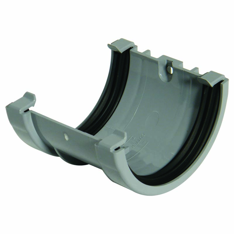FLOPLAST MINIFLO 76MM GUTTER - RUM1 UNION BRACKET - GREY