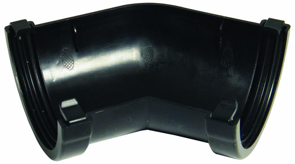 FLOPLAST MINIFLO 76MM GUTTER - RAM2 135* ANGLE - BLACK