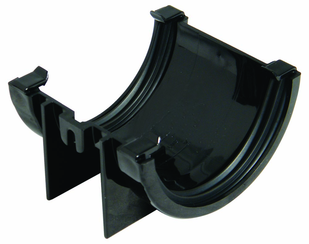 FLOPLAST MINIFLO 76MM GUTTER - RUM1 UNION BRACKET - BLACK