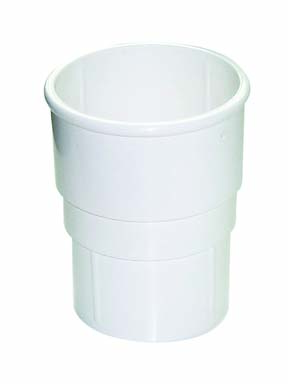 FLOPLAST MINIFLO 50MM DOWNPIPE - RSM1 PIPE SOCKET - WHITE