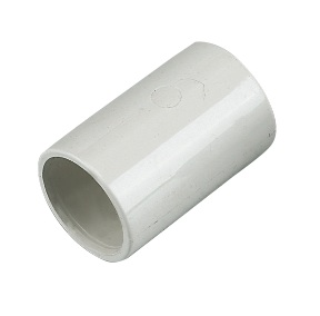 FLOPLAST OS10W COUPLING OVERFLOW 21.5MM WHITE