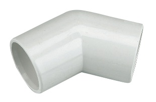 FLOPLAST OS12W 135 DEG BEND OVERFLOW 21.5MM WHITE