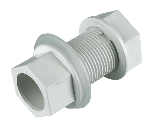 FLOPLAST OS14W STRAIGHT TANK CONNECTOR OVERFLOW 21.5MM WHITE