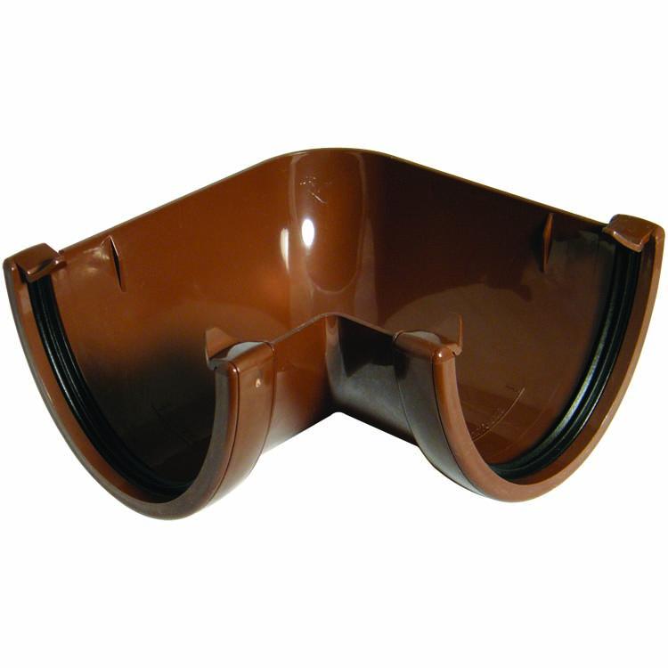 FLOPLAST HI-CAP GUTTER - RAH1 90* ANGLE - BROWN