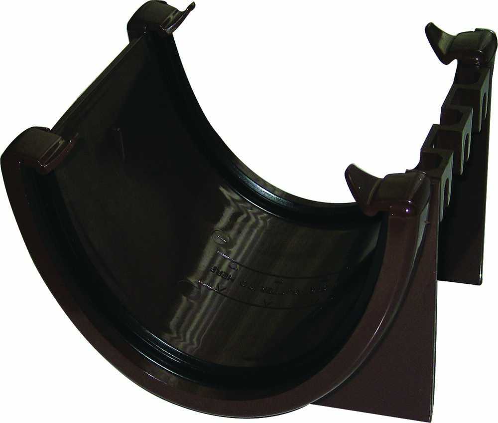 RUH1BR UNION BRACKET HI-CAP GUTTER BROWN