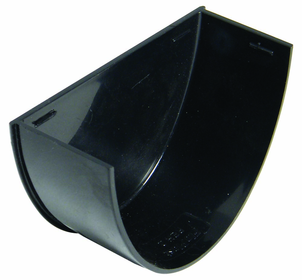 FLOPLAST HI-CAP GUTTER - REH2 INTERNAL STOPEND - BLACK
