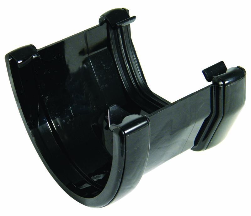FLOPLAST HI-CAP TO SQUARE LINE GUTTER ADAPTOR - RHS3 - BLACK