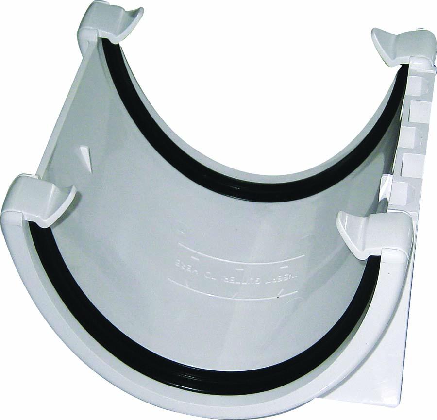 FLOPLAST HI-CAP GUTTER - RUH1 UNION BRACKET - WHITE