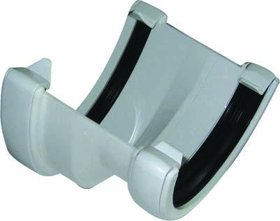 FLOPLAST HI-CAP TO HALF ROUND GUTTER ADAPTOR - RHR3 - WHITE