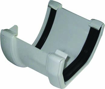FLOPLAST HI-CAP TO SQUARE LINE GUTTER ADAPTOR - RHS3 - WHITE