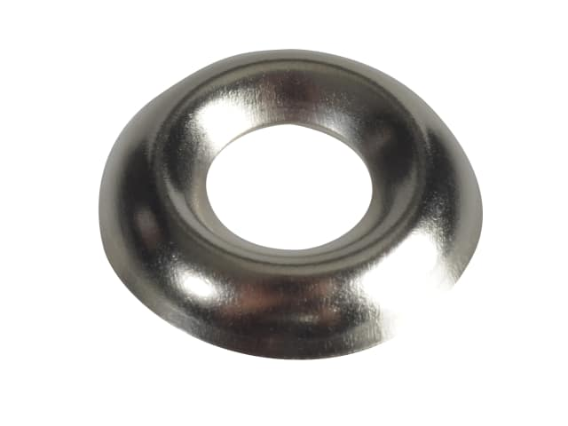 FORGEPACK SCREW CUP WASHERS - NICKEL PLATED NO.10 (PK20)