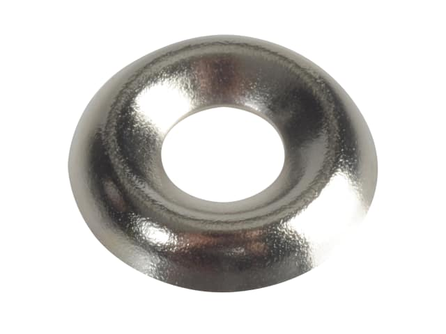 FORGEPACK SCREW CUP WASHERS - NICKEL PLATED NO.8 (PK20)