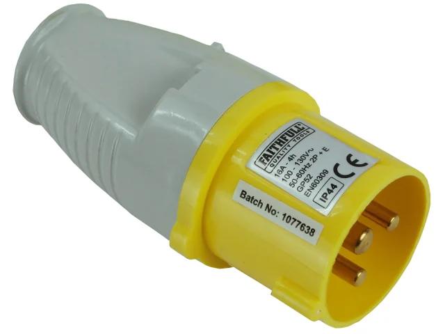 Faithfull Yellow Plug 16 Amp 110 Volt Typ 1134