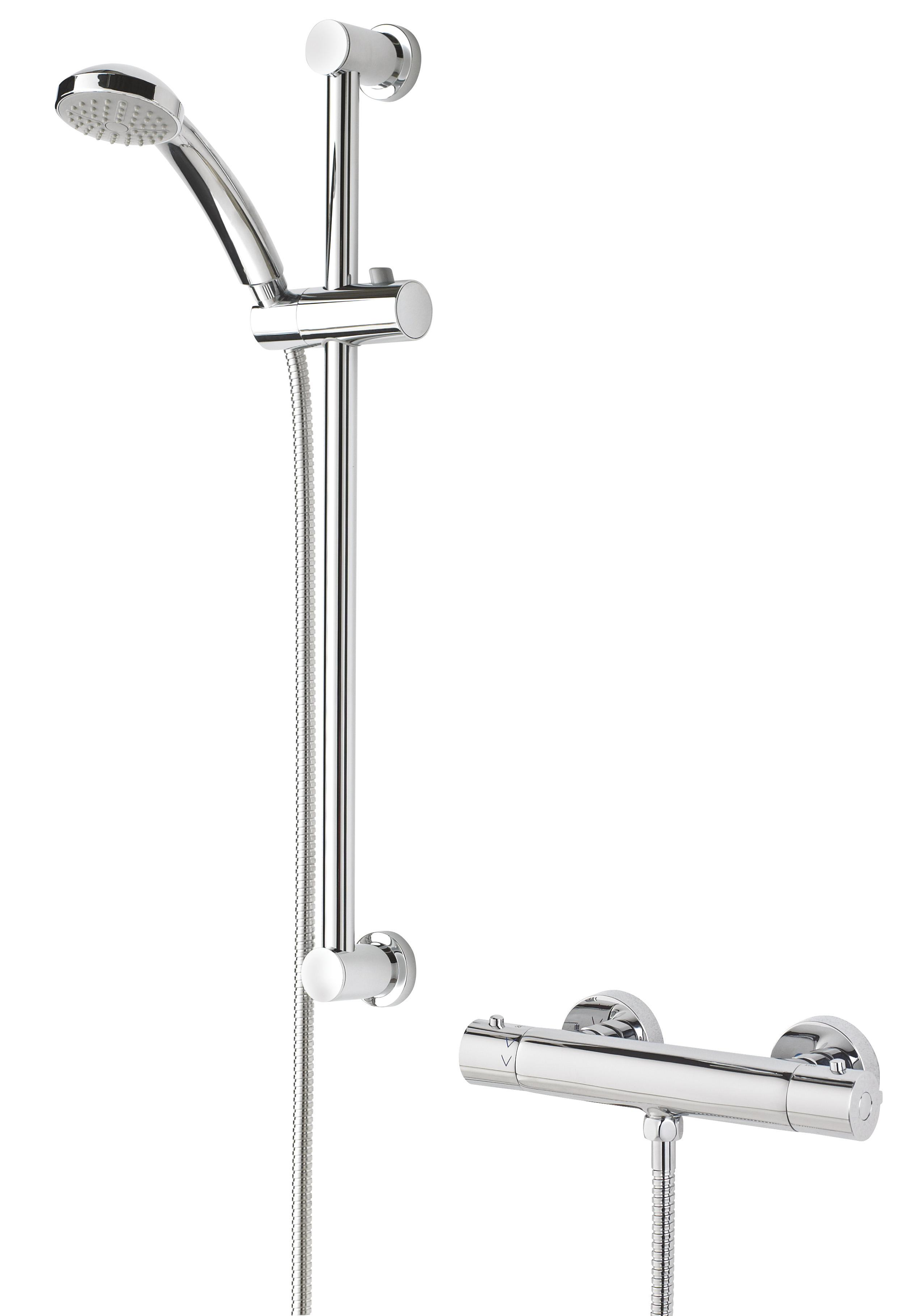 BRISTAN FRENZY THERMOSTATIC BAR SHOWER WITH RISER KIT - FZ SHXMMCTFF C