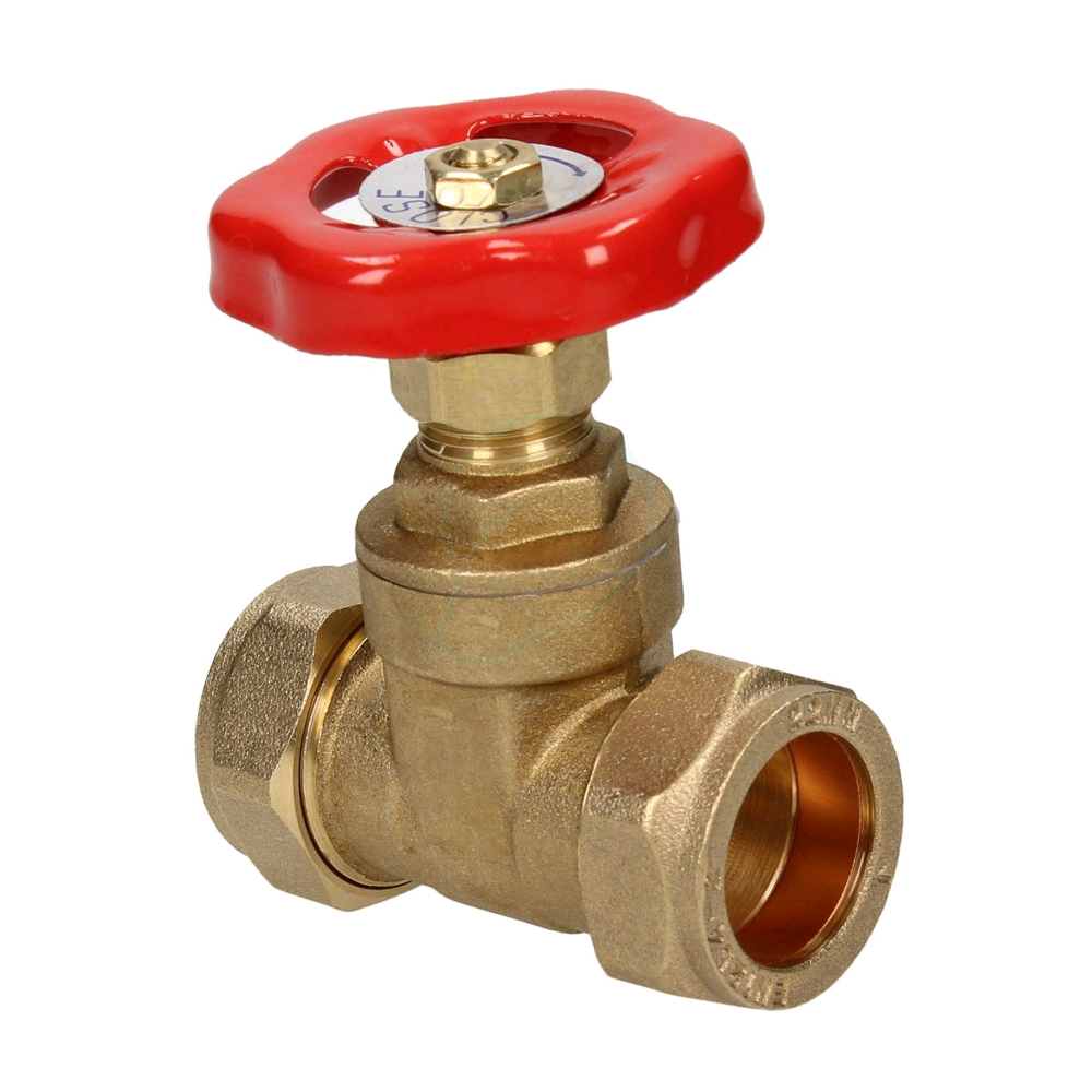 BRASS GATE VALVE C X C 28MM