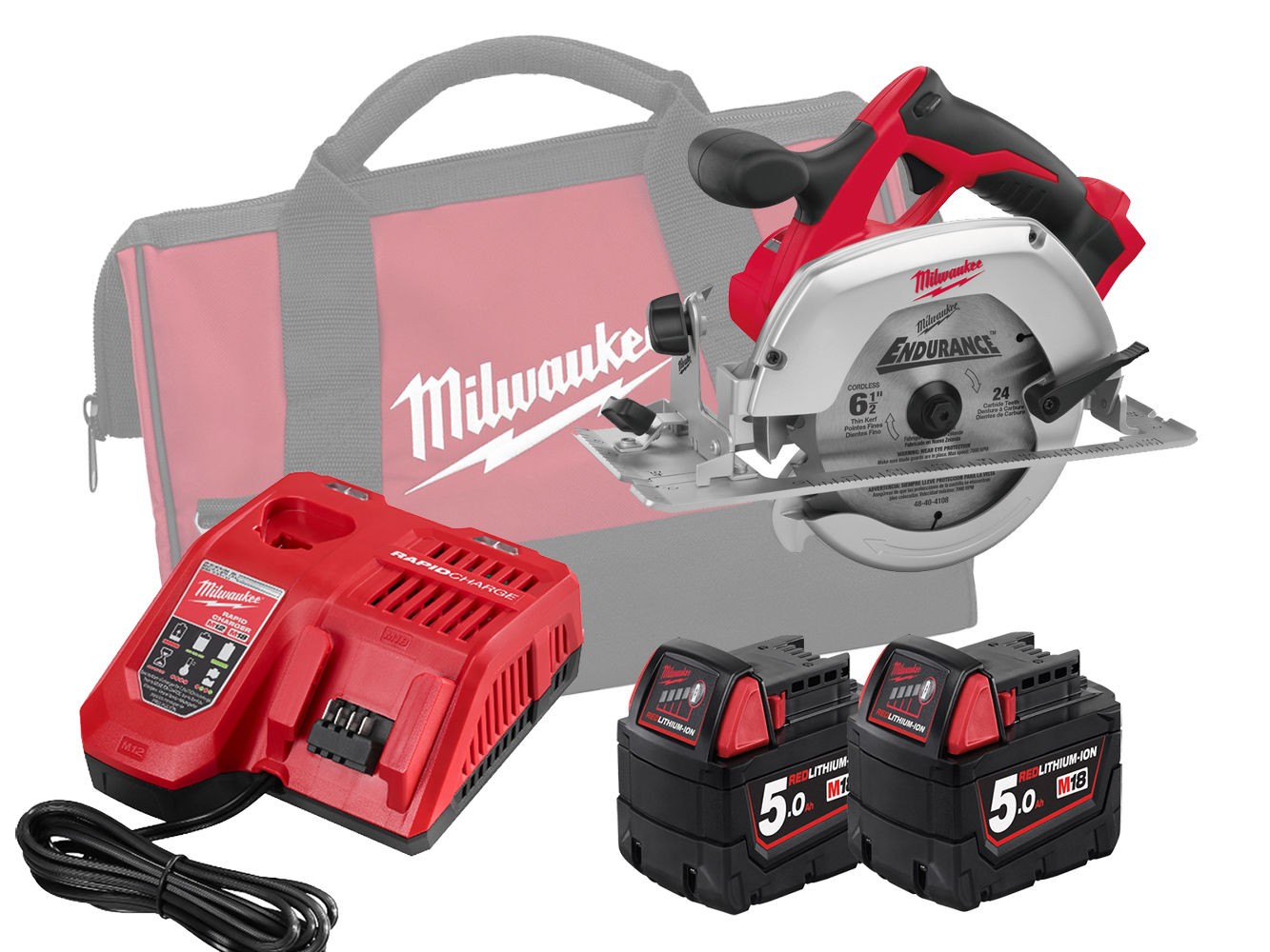 MILWAUKEE 18V HEAVY DUTY CIRCULAR SAW - HD18CS - 5.0AH PACK