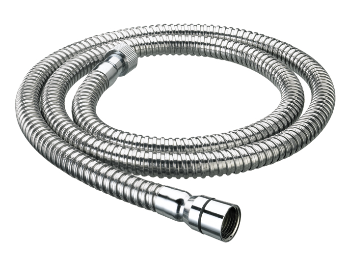 BRISTAN SHOWER HOSE 1.25M CONE TO NUT 8MM BORE STAINLESS STEEL - HOS 125CN01 C