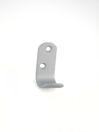 "ALUMINIUM WARDROBE HOOK (2 PER CARD) SAA 51x19mm / 2""x3/4"""