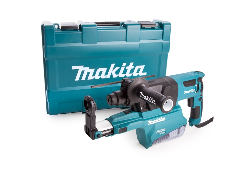 Makita HR2650 240V Rotary SDS Plus Hammer 26mm & Dust Extraction