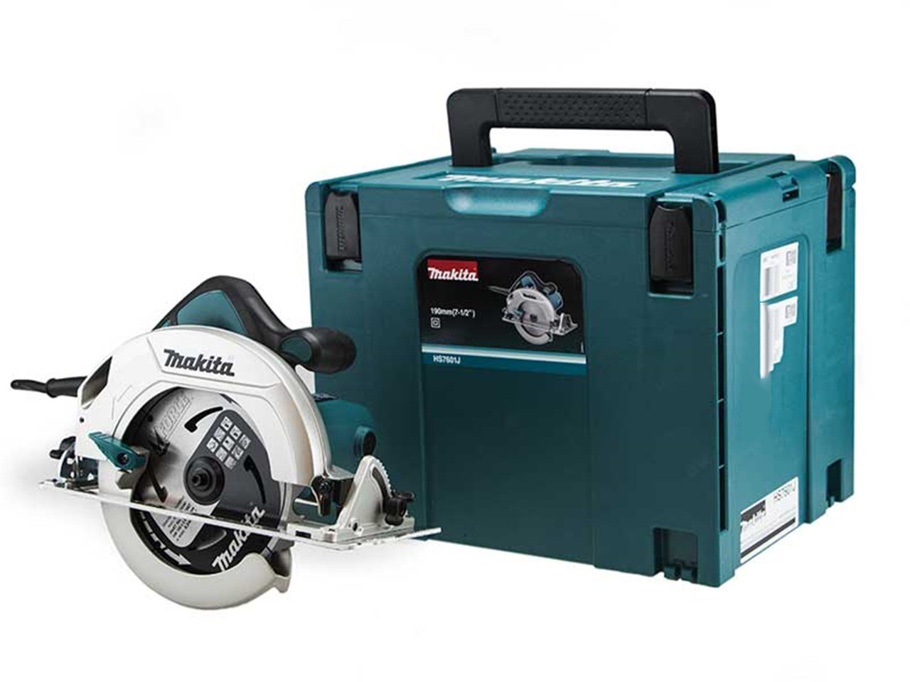 Makita HS7601J 240V 190mm Circular Saw - Single Action Lever for Quick Adjustment of Cutting Depth