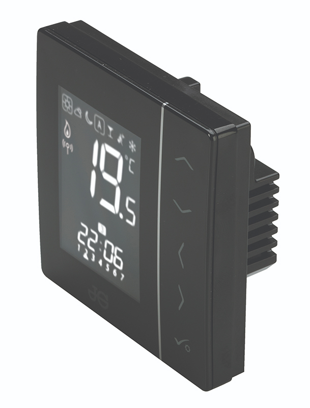 JG SPEEDFIT AURA WIRELESS THERMOSTAT 230V - BLACK