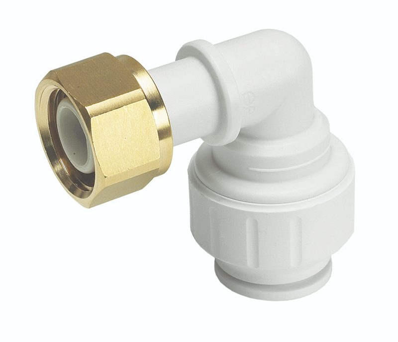 "SPEEDFIT 15MM X 1/2"" BENT TAP CONNECTOR WHITE PEMBTC1514"