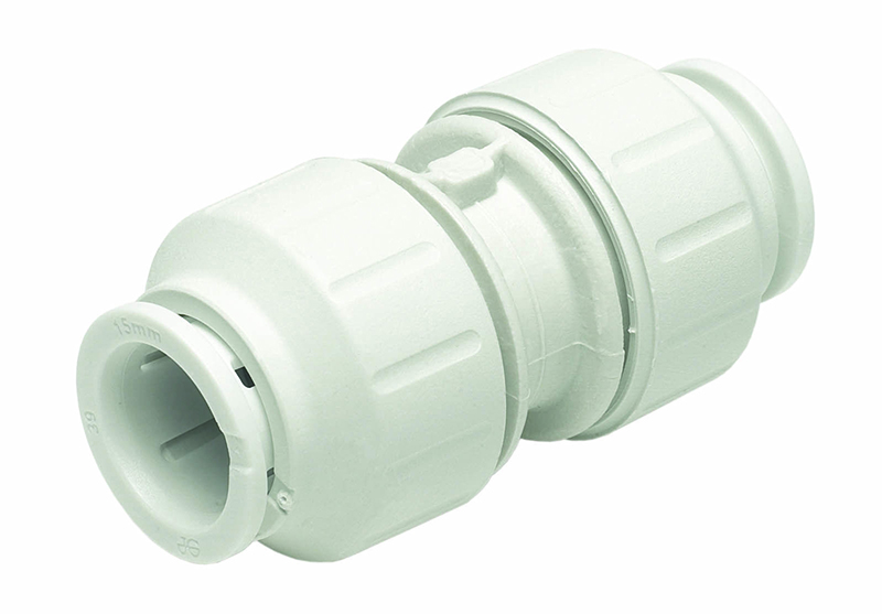 SPEEDFIT 15MM EQUAL STRAIGHT CONNECTOR WHITE PEM0415W