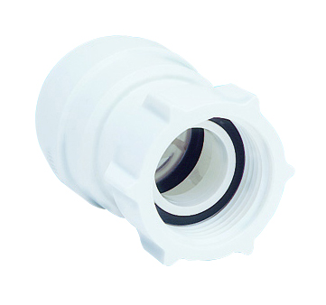 "SPEEDFIT 15MM X 3/4"" FEMALE COUPLER / TAP CONNECTOR WHITE"