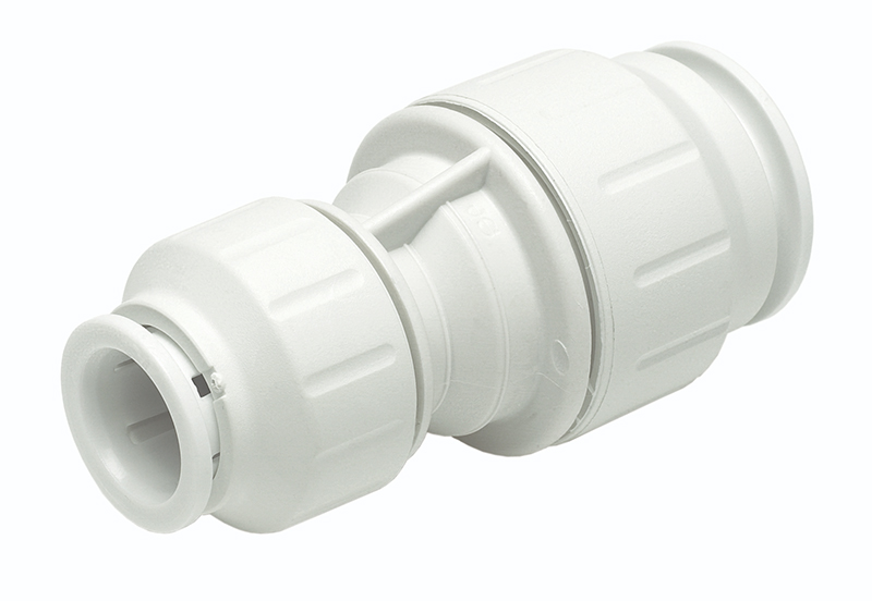 SPEEDFIT 22 X 15MM REDUCING STRAIGHT COUPLER WHITE PEM202215W