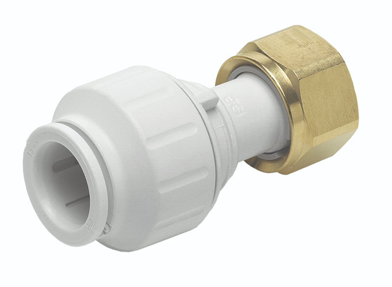 "SPEEDFIT 15MM X 1/2"" STRAIGHT TAP CONNECTOR WHITE"