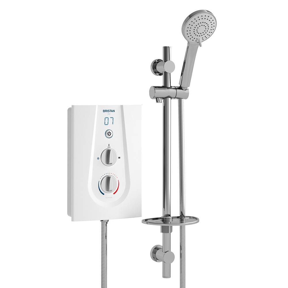 BRISTAN JOY THERMOSTATIC ELECTRIC SHOWER 9.5KW WHITE - JOYT395 W