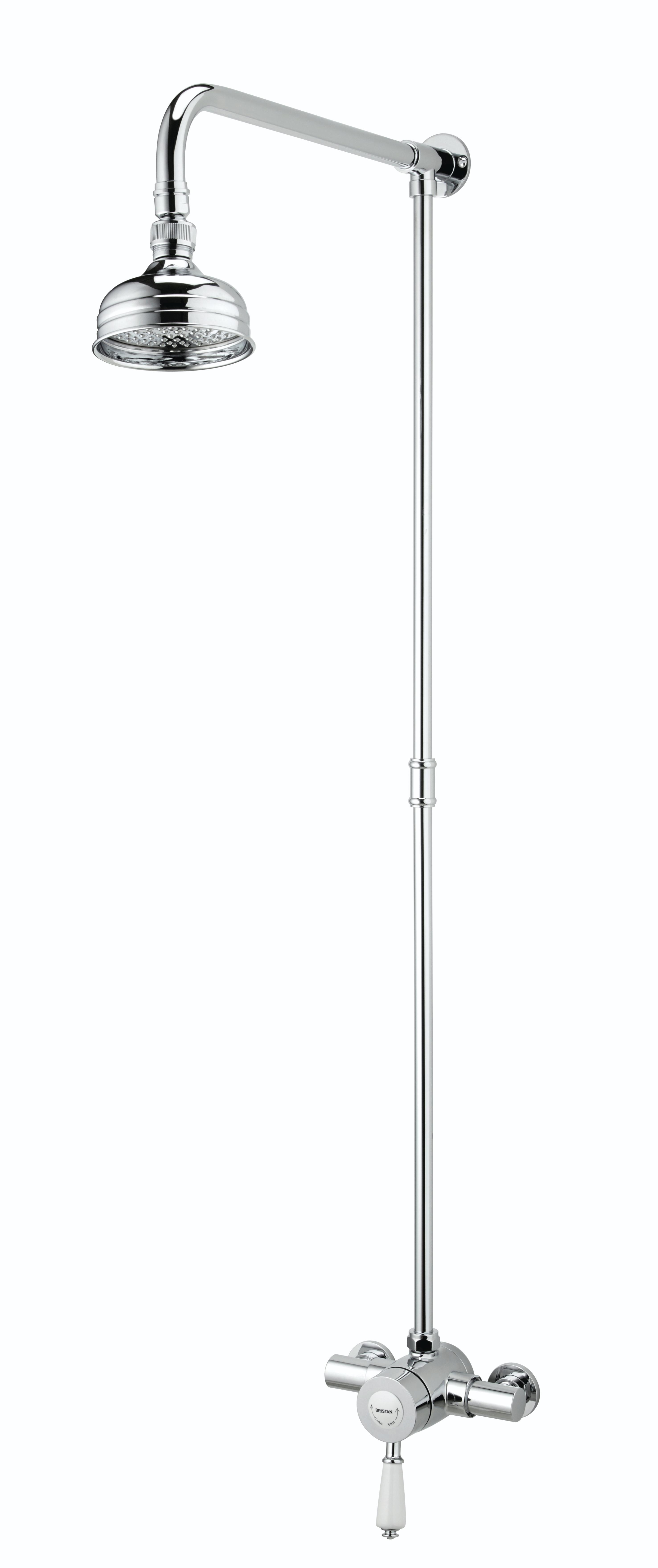 BRISTAN COLONIAL EXPOSED THERMOSTATIC SHOWER VALVE WITH RIGID RISER - KN2 SHXRR C