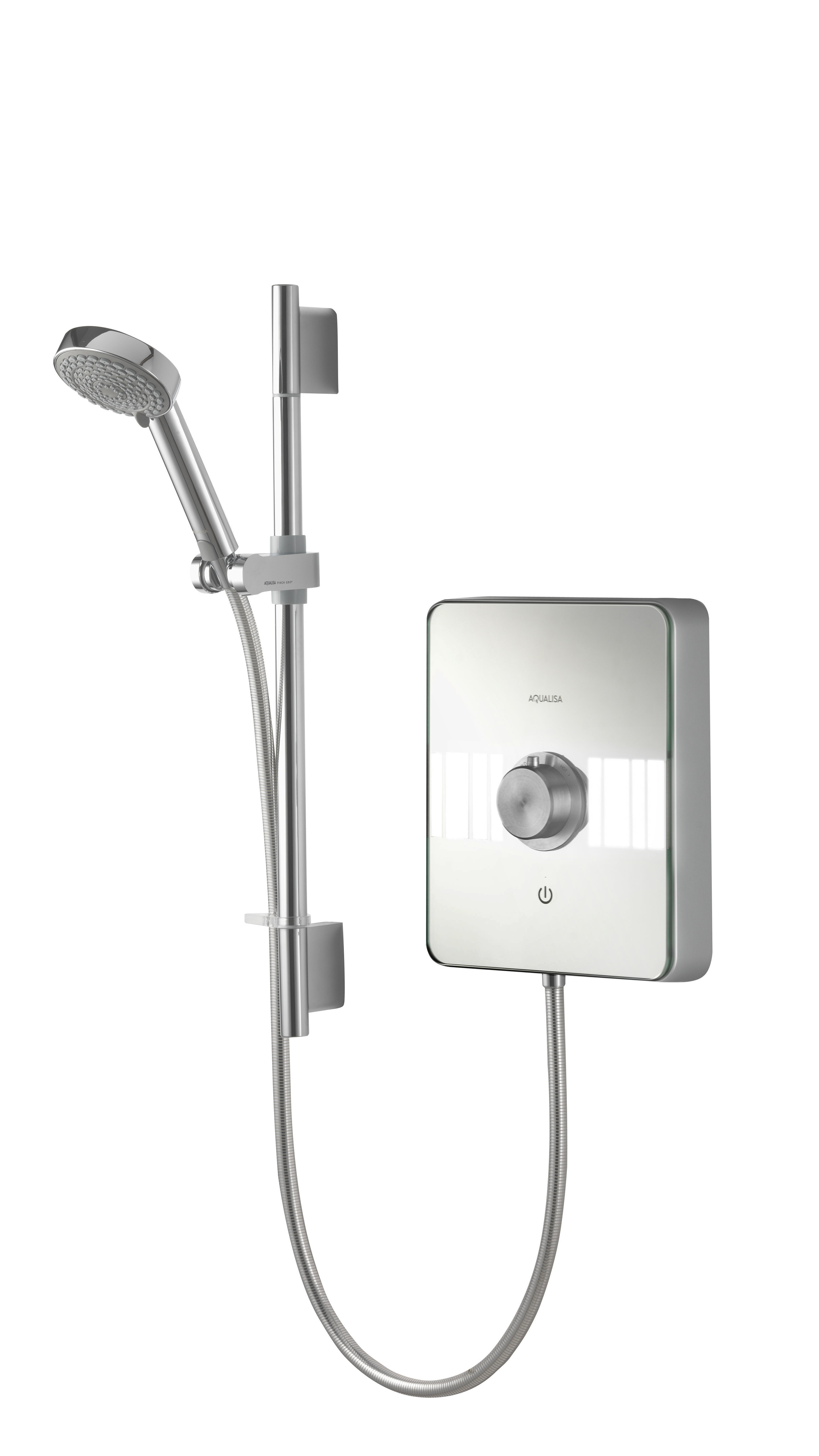 AQUALISA LUMI ELECTRIC SHOWER 10.5KW - ALL CHROME