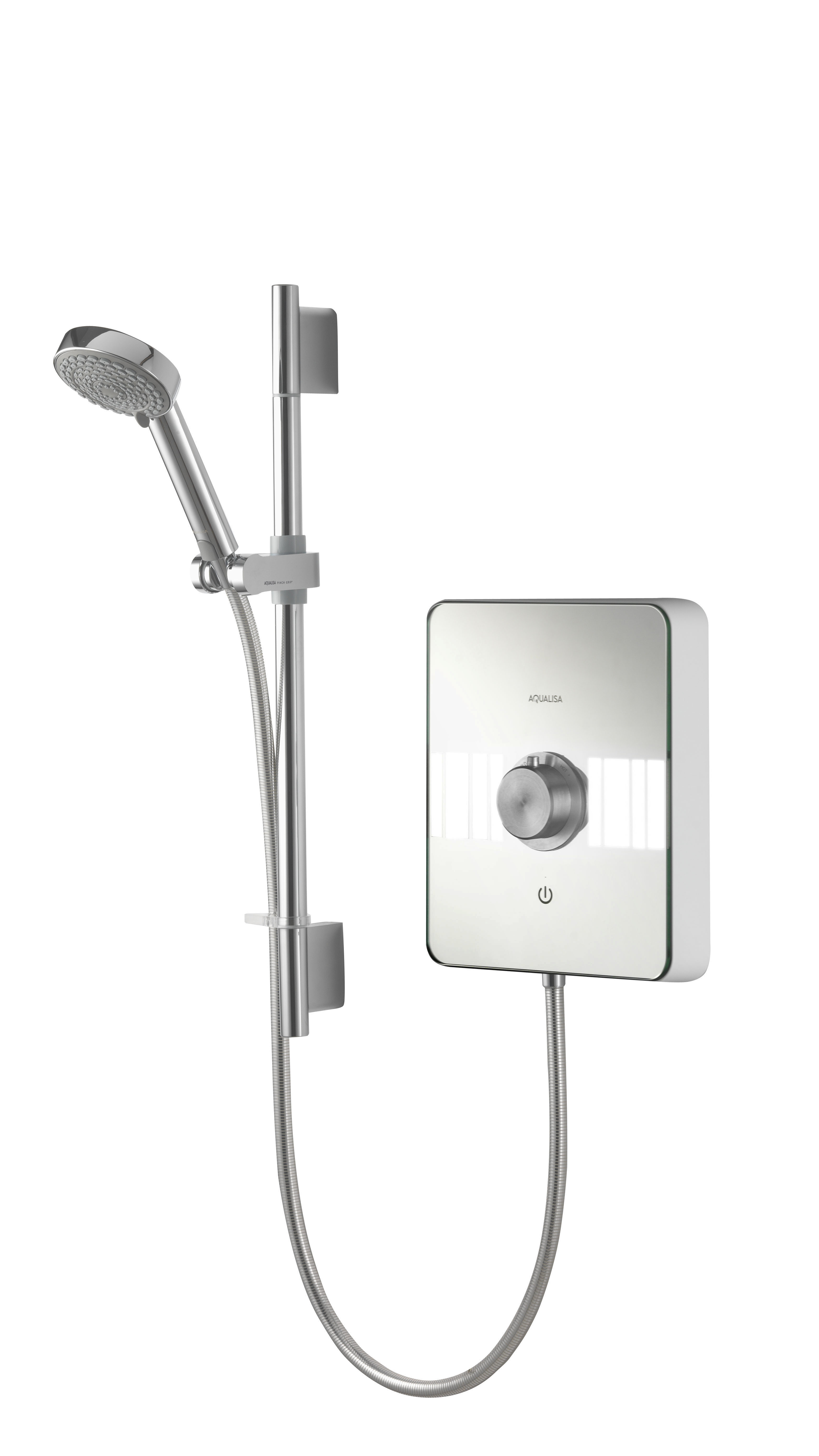 AQUALISA LUMI ELECTRIC SHOWER 10.5KW - WHITE / CHROME
