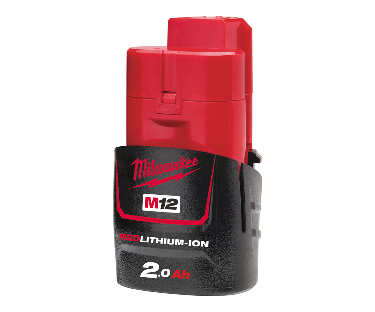 MILWAUKEE 12V 2.0AH RED LITHIUM-ION BATTERY - M12B2