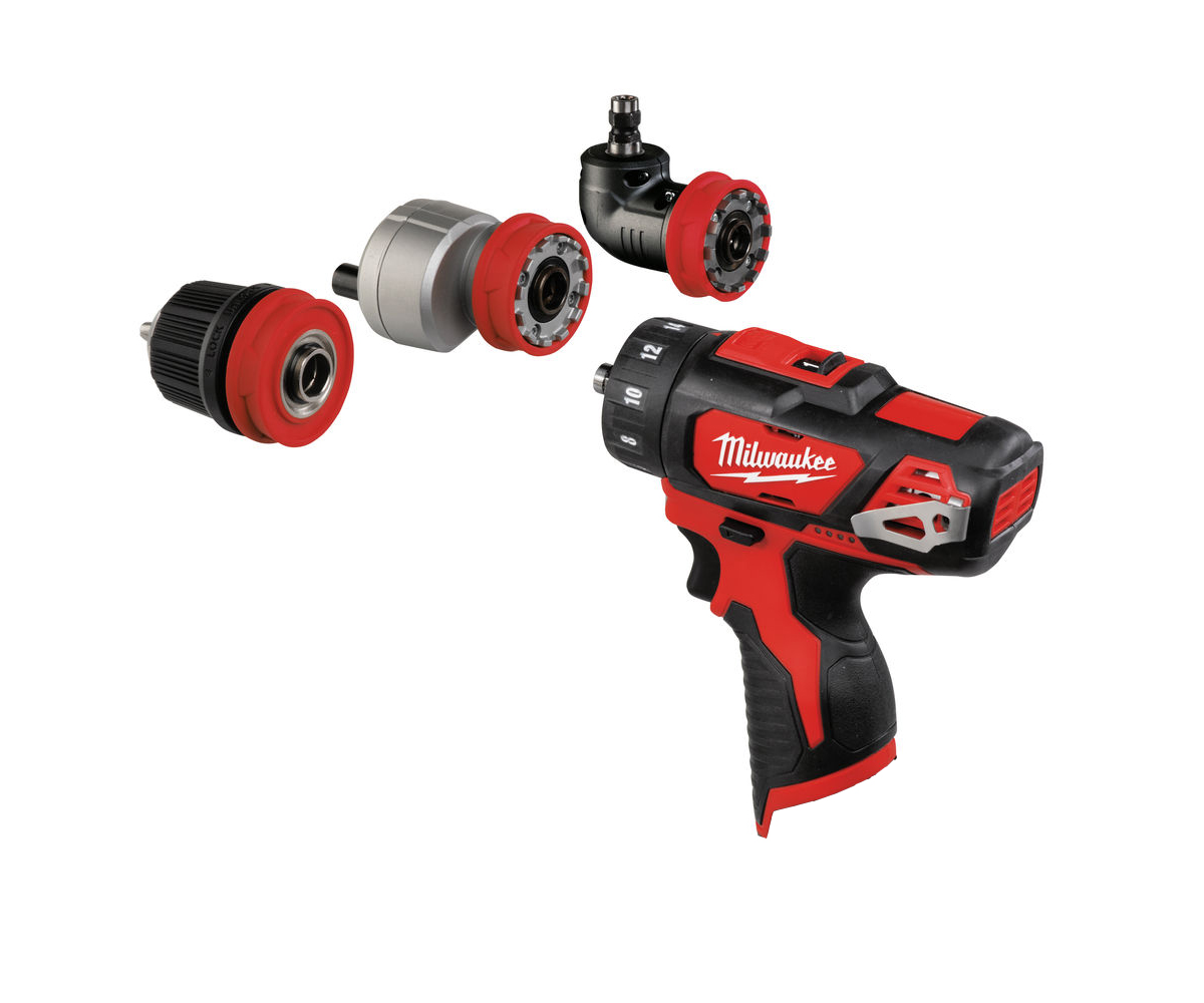 MILWAUKEE 12V DRILL / HEX / OFFSET / RIGHT ANGLE - M12BDDXKIT - BODY ONLY