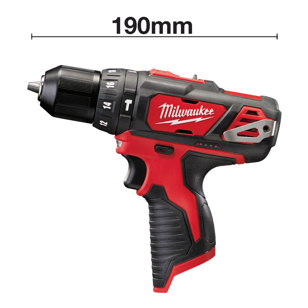 MILWAUKEE M12BPD 12V BRUSHED PERCUSSION DRILL - BODY ONLY