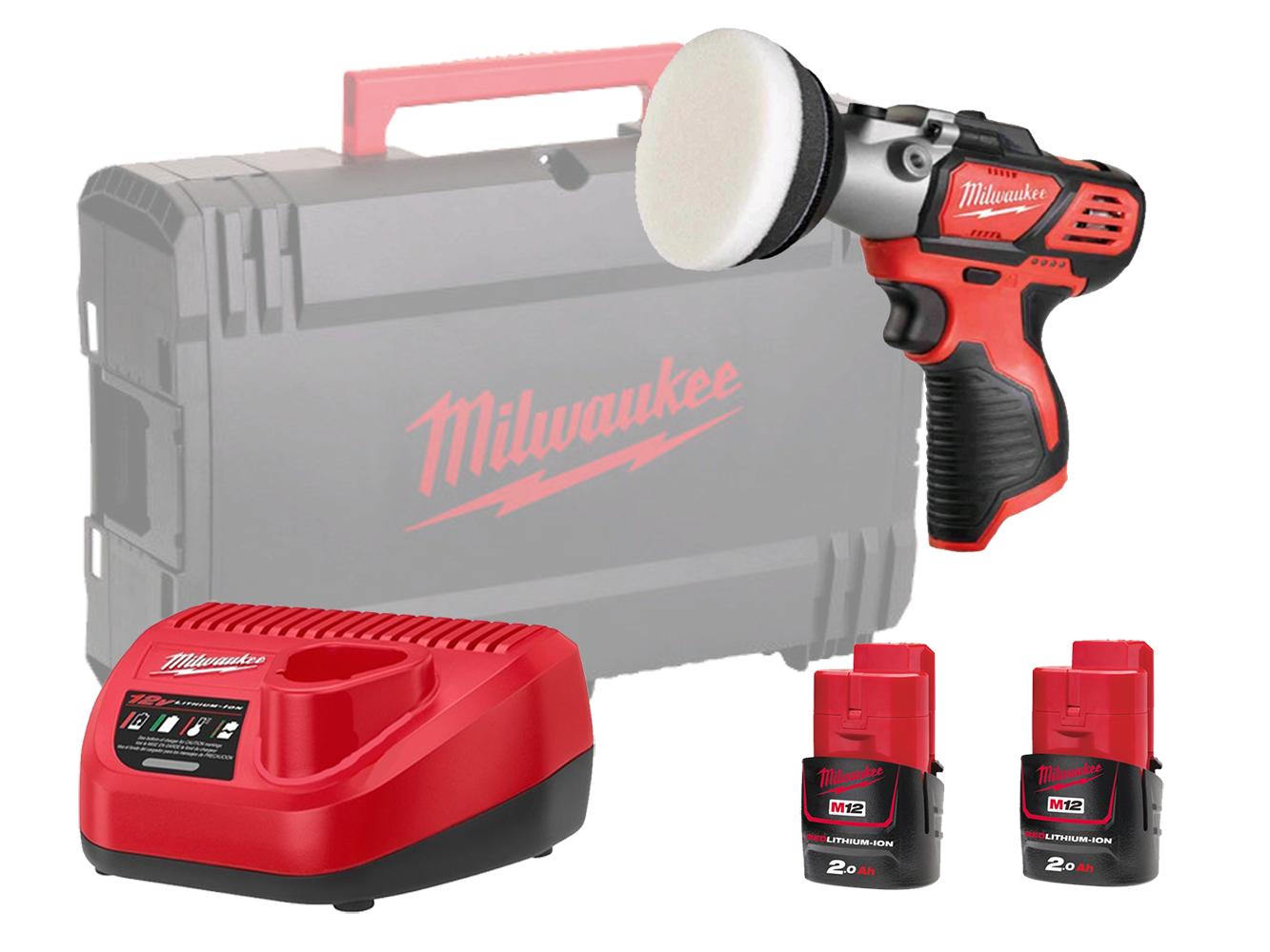Milwaukee M12BPS 12V Polisher / Sander - Sub Compact - 2.0ah Pack