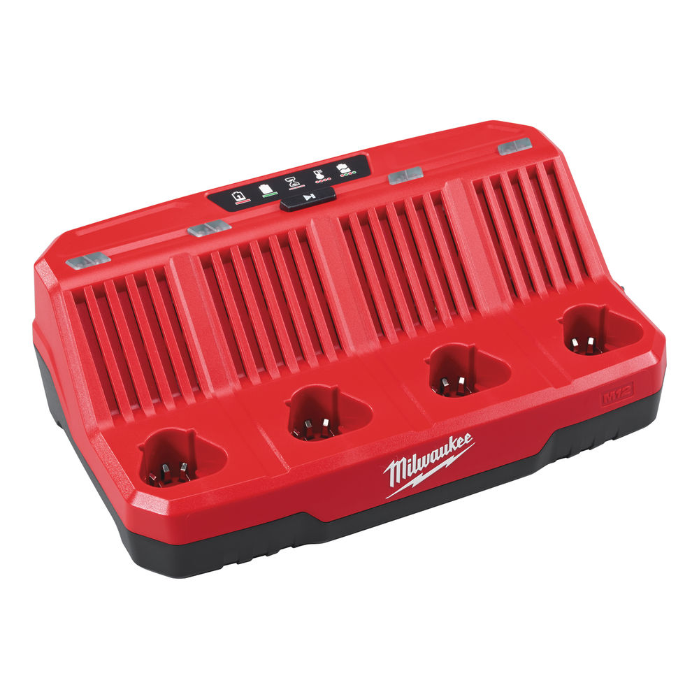 MILWAUKEE 12V SEQUENTIAL 4 BAY CHARGER - M12C4 - 240V