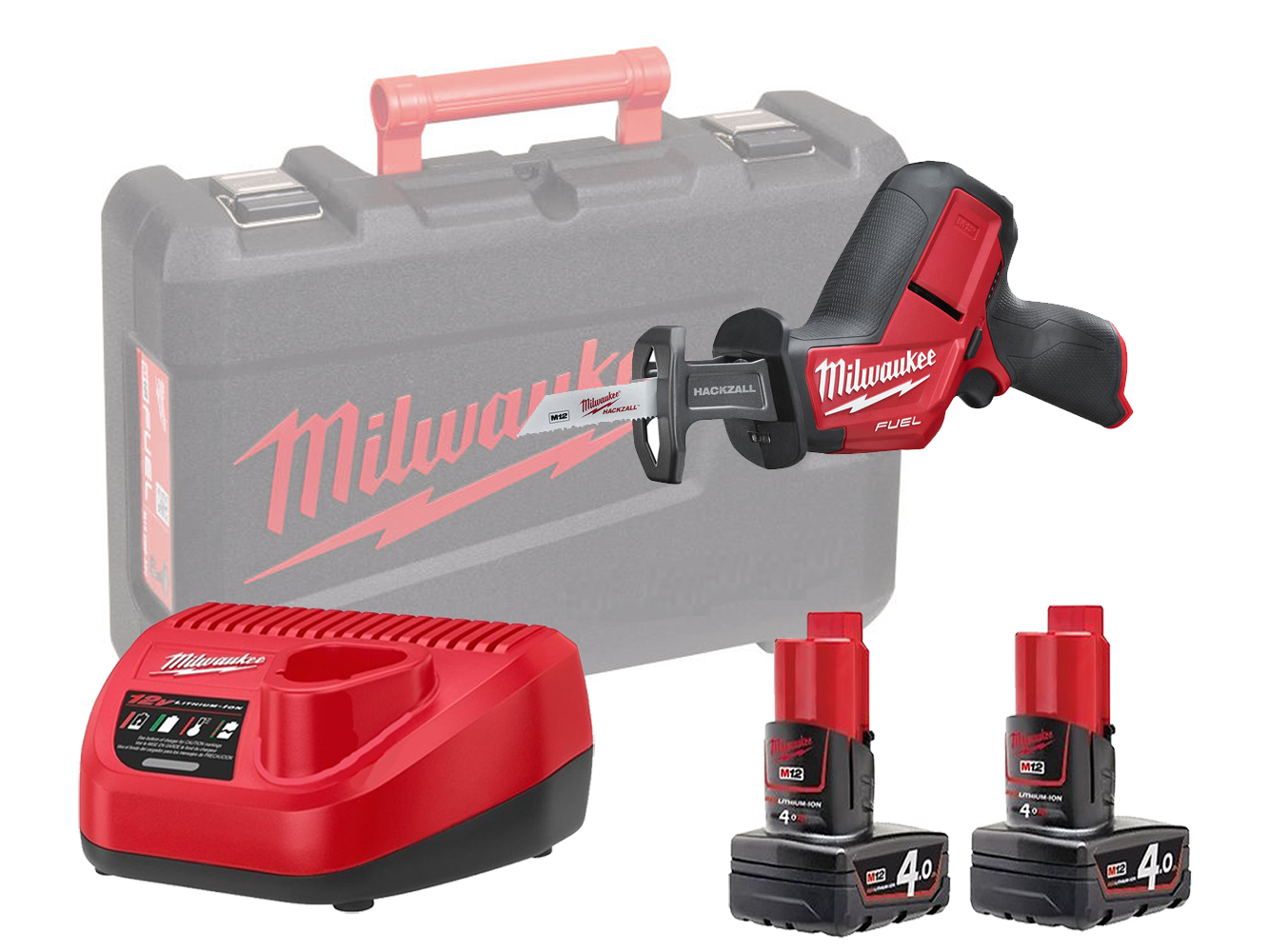 Milwaukee M12CHZ 12V Fuel Sub Compact Hackzall (Reciprocating Saw) - 4.0Ah Pack