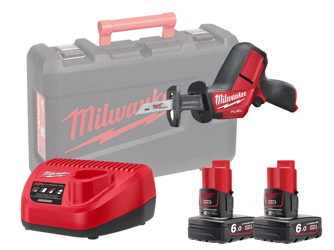 Milwaukee M12CHZ 12V Fuel Sub Compact Hackzall (Reciprocating Saw) - 6.0Ah Pack