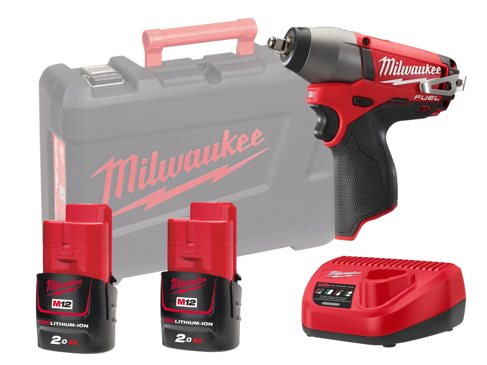 """MILWAUKEE 12V FUEL IMPACT WRENCH 1/2"""" - M12CIW12 - 2.0AH PACK"""