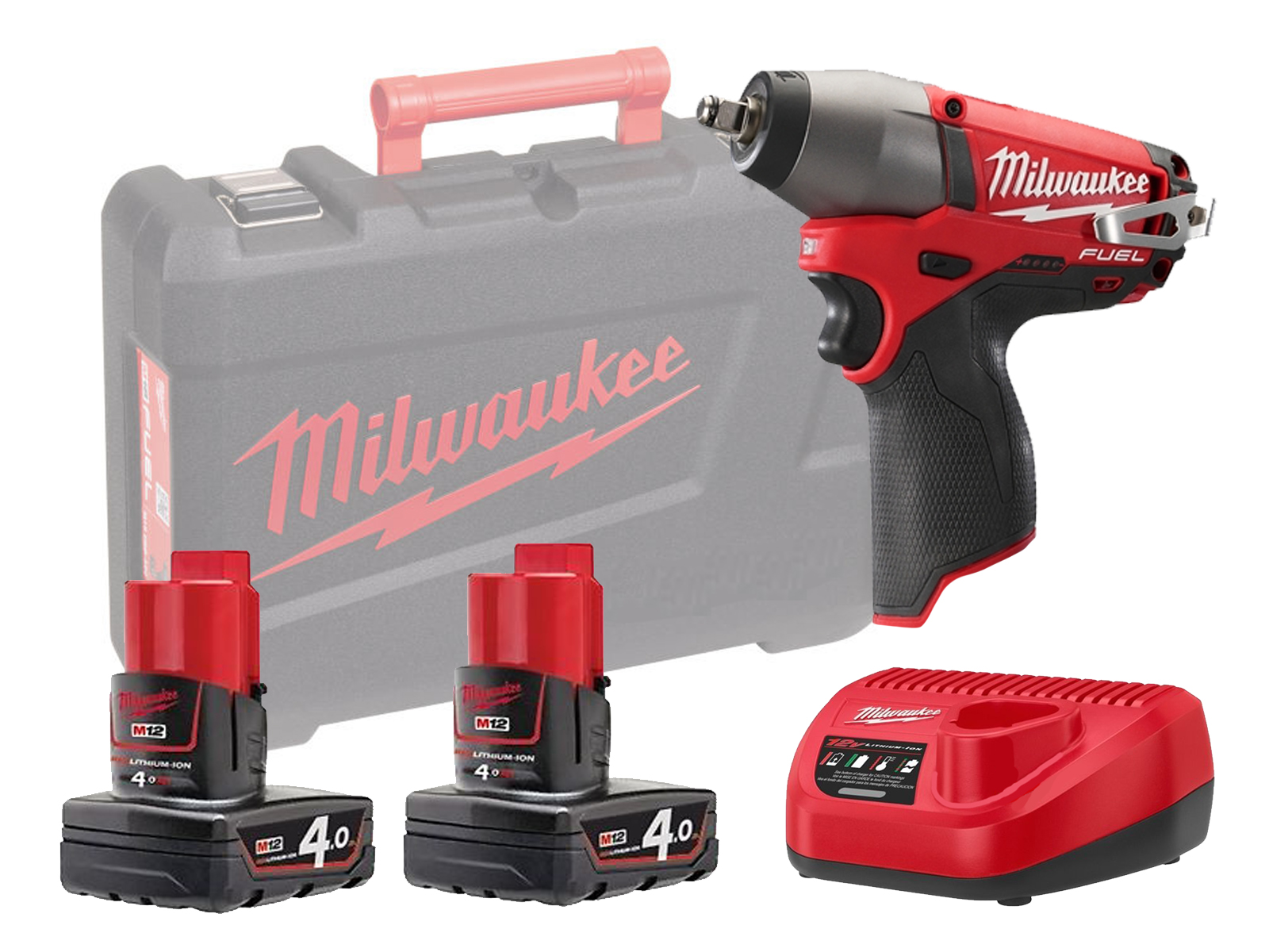 """MILWAUKEE 12V FUEL IMPACT WRENCH 1/2"""" - M12CIW12 - 4.0AH PACK"""