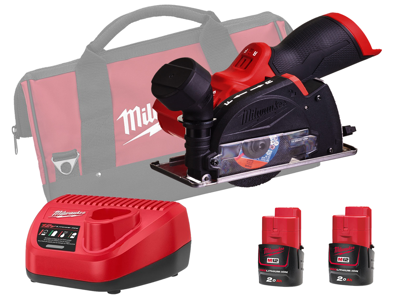 Milwaukee M12FCOT 12V Fuel Sub Compact Multi-Material Cut-Off Tool - 2.0Ah Pack