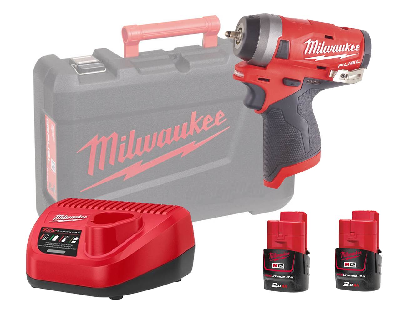 "MILWAUKEE 12V FUEL COMPACT IMPACT WRENCH 1/4"" - M12FIW14 - 2.0AH PACK"