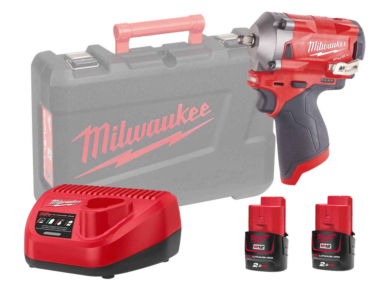 "MILWAUKEE 12V FUEL COMPACT IMPACT WRENCH 3/8"" - M12FIW38 - 2.0AH PACK"