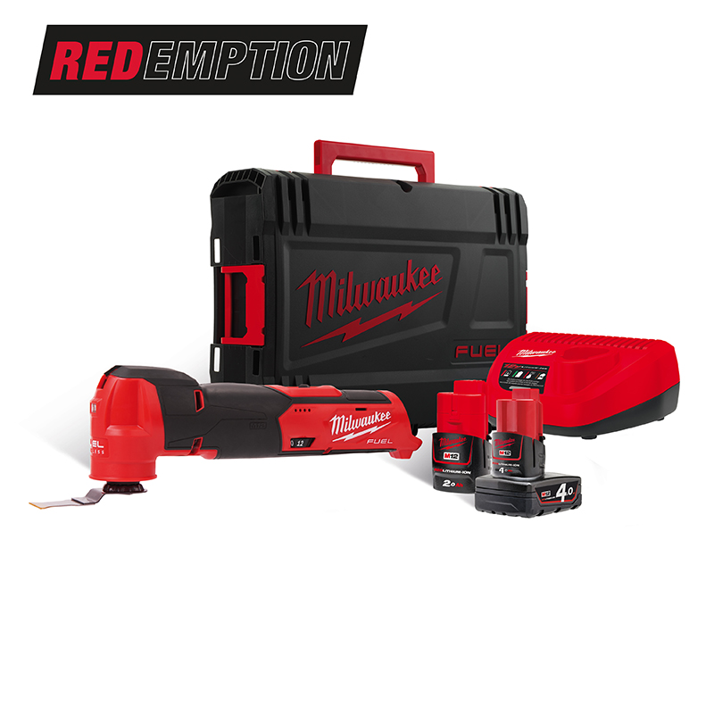 Milwaukee M12FMT-422X Brushless Quick Release Multi Tool 12V Fuel - 4.0ah/2.0ah Pack
