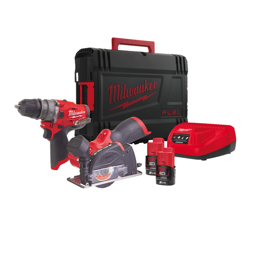 Milwaukee M12FPP2G-202X - 12V Fuel 4-in-1 Tool & Cut Off Tool - 2.0ah Pack