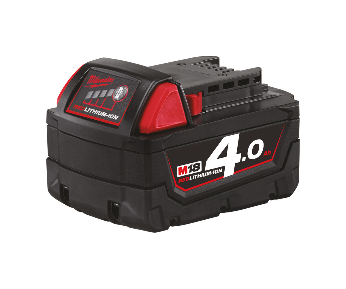 MILWAUKEE 18V 4.0AH RED LITHIUM-ION BATTERY - M18B4